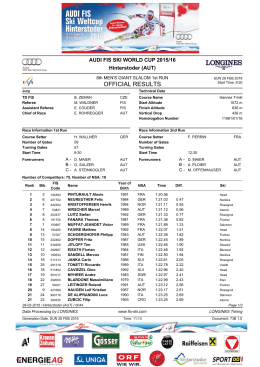 Official Results Run 1