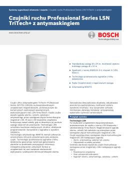 Czujniki ruchu Professional Series LSN TriTech+ z antymaskingiem