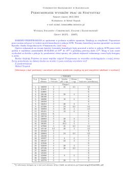Podsumowanie wyników prac ze Statystyki1