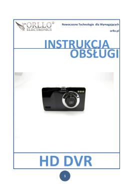 Instrukcja rejestratora samochodowego ORLLO HD DVR