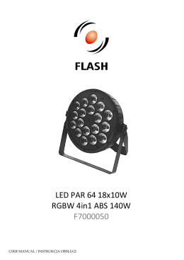 LED PAR 64 SLIM 7x0W RGBW - PS0710