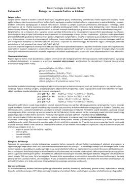 Biotechnologia środowiska dla OZE Ćwiczenie 7 Biologiczne