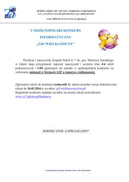 "v ogólnopolski konkurs informatyczny ""gif"