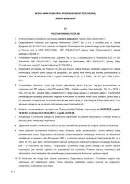 Regulamin konkurs Activia w ¯abce i Freshmarket
