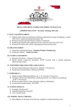 Regulamin biegu - Gmina Wyszków