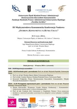 Program_Konferencji_Katowice - Wydział Prawa i Administracji