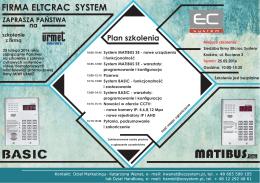 Plan szkolenia - Eltcrac