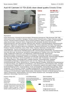 Audi A5 Cabriolet 2.0 TDI (EU6) Clean Diesel Multitronic S line