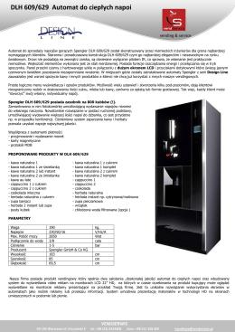 DLH 609/629 Automat do ciepłych napoi