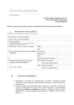 wniosek_minihokej - Szkoła Podstawowa Nr 11 w Oświęcimiu