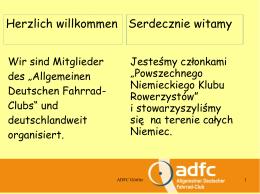 Herzlich willkommen Serdecznie witamy