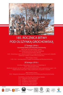 185. rocznica bitwy pod olszynką grochowską