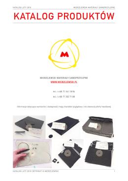 Katalog Produktów w PDF - MIERZEJEWSKI Materiały Samoprzylepne