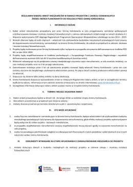 Regulamin naboru ankiet - Urząd Gminy Końskowola