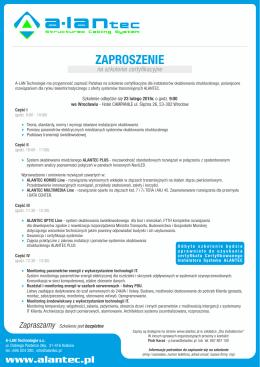 Zaproszenie na szkolenie - Wrocław new.cdr - A-Lan
