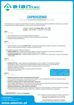 Zaproszenie na szkolenie - Opole.cdr - A-Lan
