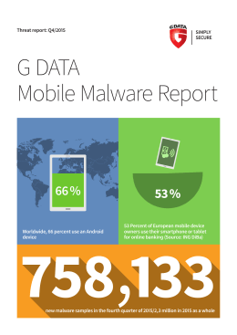 G DATA Mobile Malware Report