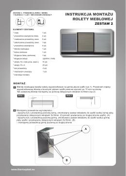Instrukcja montażu rolety alminiowej Premium