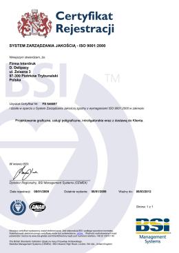 Spełniamy wymagania ISO