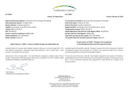 Nr 7/2016 Poznań, 23 lutego 2016 r. Raport przekazywany zgodnie z