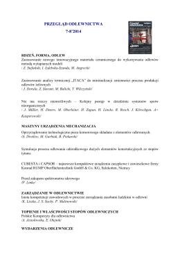 Pobierz - Przegląd Odlewnictwa
