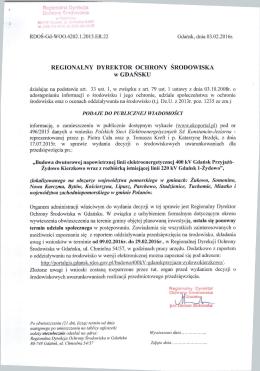 REGIONALNY DYREKTOR OCHRONY SRODOWISKA w GDANSKU