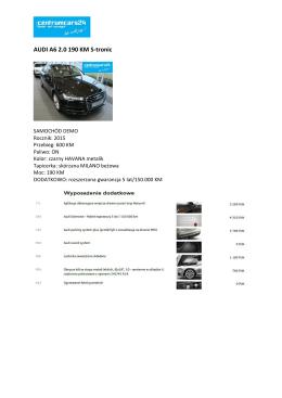 AUDI A6 2.0 190 KM S-tronic
