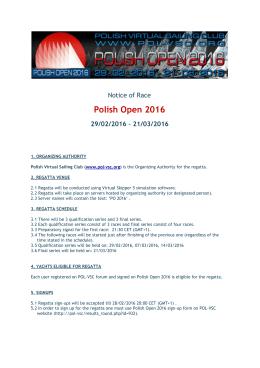 Polish Open 2016 - POL-VSC