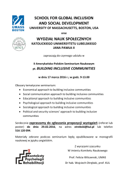 Building Inclusive Communities