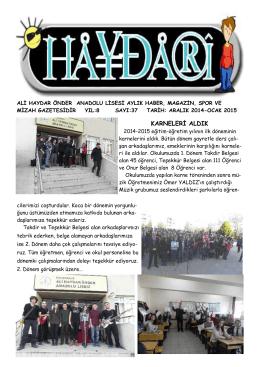 karneleri aldık - Ali Haydar Önder Anadolu Lisesi