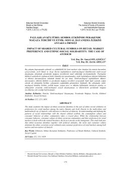 sosyal dayanışma ilişkisi - İktisadi ve İdari Bilimler Fakültesi Dergisi