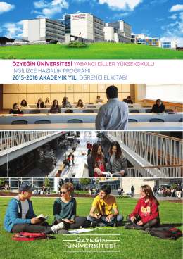 ScOLa Hazırlık Programı Öğrenci Kitapçığı