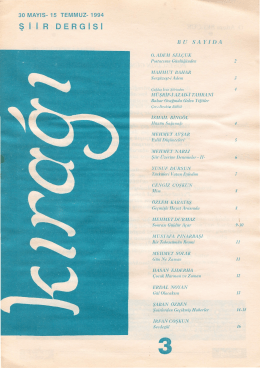 Kırağı Dergisi 3. Sayısı