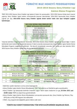 2015-2016 Gençler Ligi Fikstürü - Türkiye Buz Hokeyi Federasyonu