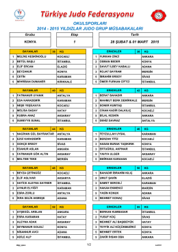 okulsporları 2014 - 2015 yıldızlar judo grup müsabakaları