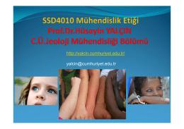 SSD4010 Mühendislik Etiği
