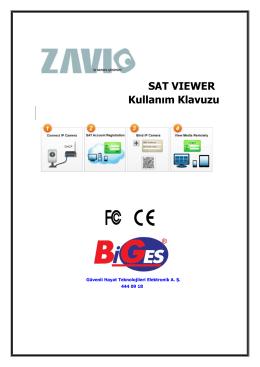 SAT VIEWER Kullanım Klavuzu - Biges Güvenli Hayat Teknolojileri