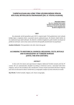 Türk Göçebelerinde Dinler, Kültler, Ritüeller ile İkonografi `M.S. 8