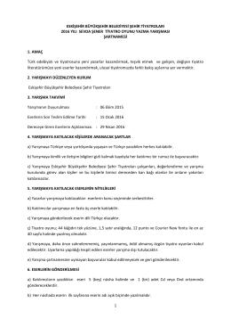 Teknik Şartname 2016 indir - Eskişehir Şehir Tiyatroları