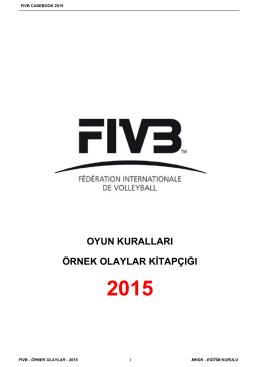 2015 Oyun Kuralları Örnek Olaylar Kitapçığı