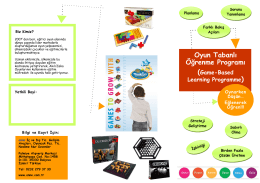 Oyun Tabanlı Öğrenme Programı (Game-Based Learning