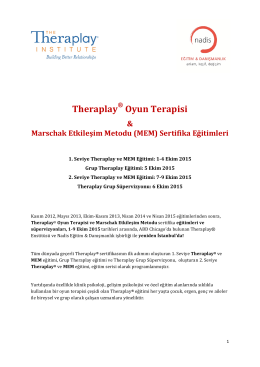 Theraplay Oyun Terapisi