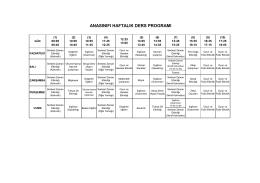 anasınıfı haftalık ders programı