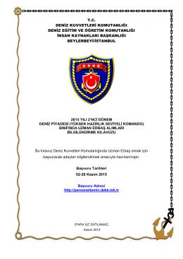 Başvuru Kılavuzu - Deniz Kuvvetleri Komutanlığı Personel Temin