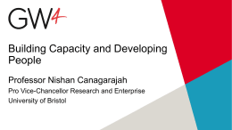 Building Capacity and Developing People