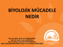 Biyolojik Mücadele - Mehmet Karacaoğlu Sunumu