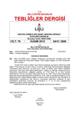 2698_Kasim 2015 - Tebliğler Dergisi