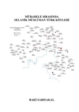 Mübadele Sırasında Selanik Müslüman Türk Köyleri