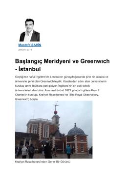 """""""Başlangıç Meridyeni ve Greenwich - İstanbul"""",Yeni"""