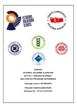 "BURADA İSTANBUL KALKINMA AJANSI`NIN 2015 YILI ""YENİLİKÇİ"